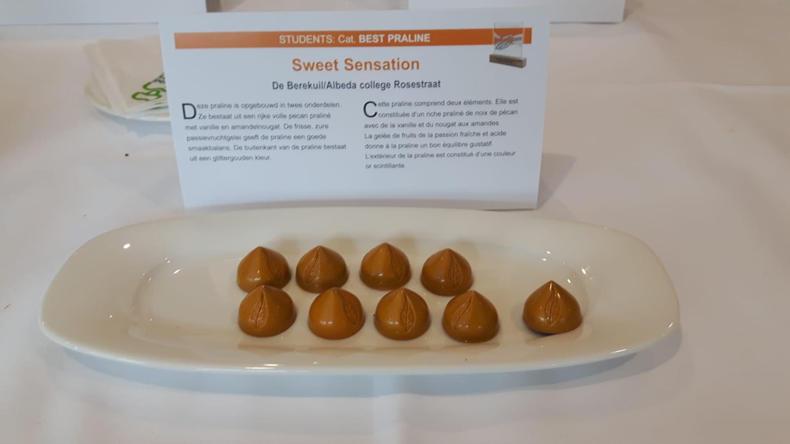 Ricardo Heuvelink 1e bij Belgium Chocolate Awards