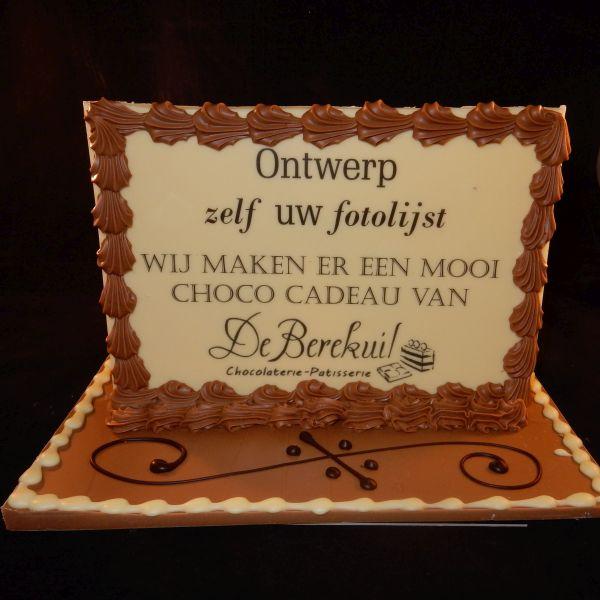 Chocolade fotolijst (horizontaal)