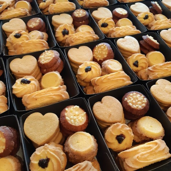 Zoete koekjes en zoutjes